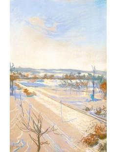Tytuł: Widok z okna pracowni na Kopiec Kościuszki, Autor: Stanisław Wyspiański