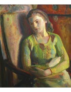 Dziewczyna siedząca w fotelu