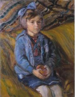 Dziewczynka z kokardą we włosach