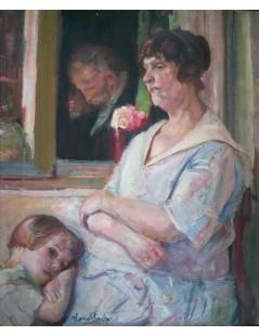 Tytuł: Portret matki z córką, Autor: Kasper Pochwalski