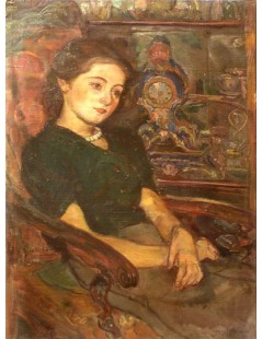 Tytuł: Portret siostrzenicy Katarzyny z Fuglewiczów Wróblewskiej, Autor: Kasper Pochwalski