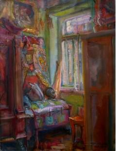 Tytuł: W pokoju artysty, Autor: Kasper Pochwalski