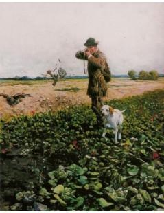 Tytuł: Na polowaniu, Autor: Alfred Wierusz Kowalski