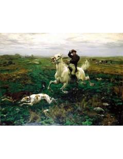 Tytuł: Na przełaj przez łąki, Autor: Alfred Wierusz Kowalski