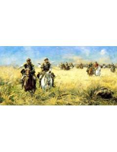 Tytuł: W pościgu za Tatarem, Autor: Alfred Wierusz Kowalski