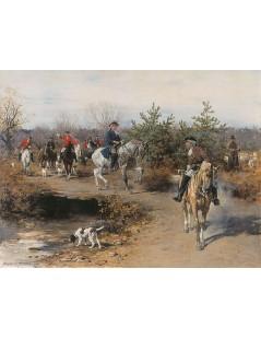 Tytuł: Wyjazd na polowanie, Autor: Alfred Wierusz Kowalski