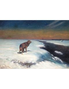Tytuł: Samotny wilk, Autor: Leon Wyczółkowski