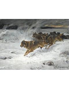 Tytuł: Stado wilków, Autor: Leon Wyczółkowski