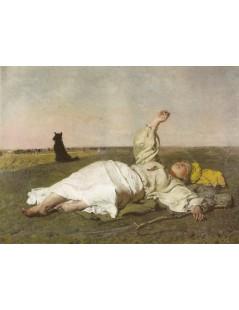 Tytuł: Babie lato, Autor: Józef Chełmoński