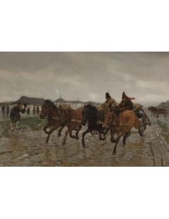 Tytuł: Czwórka, Autor: Józef Chełmoński