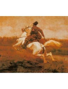 Tytuł: Dojeżdżacz, Autor: Józef Chełmoński