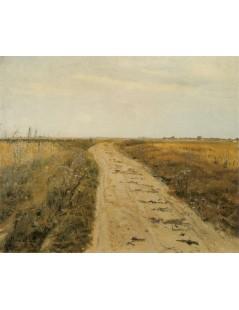 Tytuł: Droga w polu, Autor: Józef Chełmoński