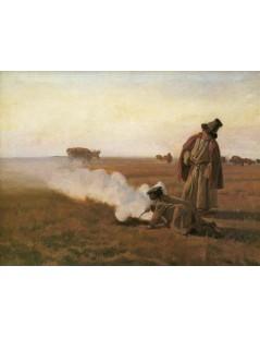 Tytuł: Dymy. Jesień, Autor: Józef Chełmoński