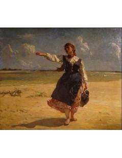 Tytuł: Dziewczyna z dzbanem, Autor: Józef Chełmoński