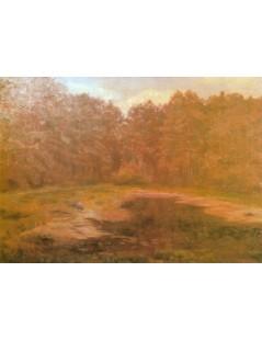 Tytuł: Staw w lesie, Autor: Józef Chełmoński
