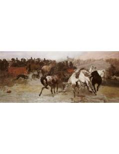 Tytuł: Targ na konie w Bałcie, Autor: Józef Chełmoński