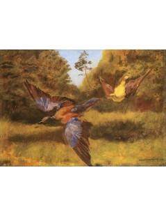 Tytuł: Wilga i kraska, Autor: Józef Chełmoński