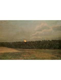 Tytuł: Wschód księżyca, Autor: Józef Chełmoński