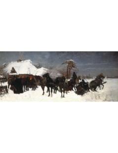 Tytuł: Zjazd na polowanie, Autor: Józef Chełmoński