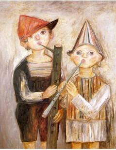 Tytuł: Chłopcy z fujarkami.jpg, Autor: Tadeusz Makowski