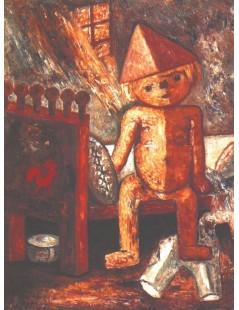 Tytuł: Chłopczyk na łóżku, Autor: Tadeusz Makowski