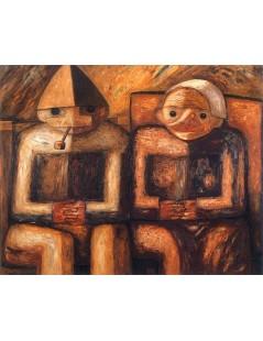 Tytuł: Dziad i baba.jpg, Autor: Tadeusz Makowski