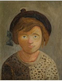 Tytuł: Dziewczynka w berecie, Autor: Tadeusz Makowski