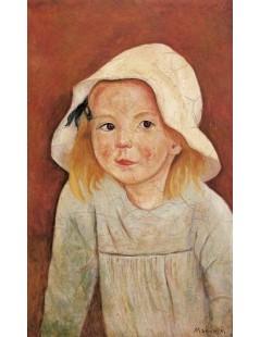 Tytuł: Dziewczynka w białym kapeluszu, Autor: Tadeusz Makowski