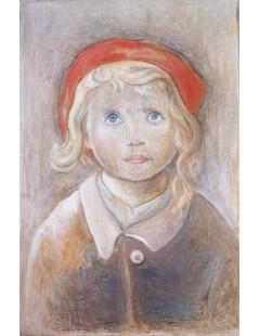 Tytuł: Dziewczynka z blond włosami.jpg, Autor: Tadeusz Makowski