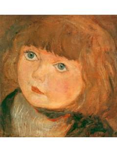 Tytuł: Dziewczynka z grzywką, Autor: Tadeusz Makowski