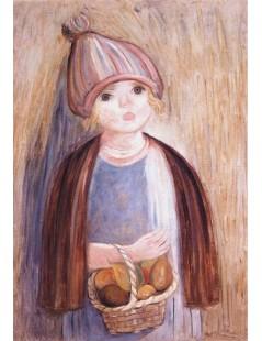 Tytuł: Dziewczynka z koszykiem gruszek, Autor: Tadeusz Makowski