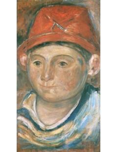 Tytuł: Głowa chłopca w czerwonym kapeluszu, Autor: Tadeusz Makowski