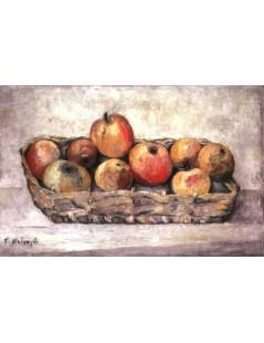 Tytuł: Jabłka w koszyku, Autor: Tadeusz Makowski