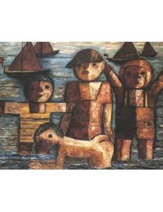 Tytuł: Kąpiel, Autor: Tadeusz Makowski