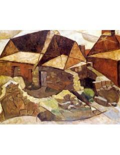 Tytuł: Pejzaż z domami.jpg, Autor: Tadeusz Makowski