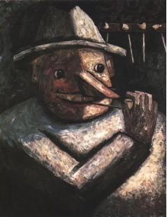 Tytuł: Portret męski z fajkami, Autor: Tadeusz Makowski