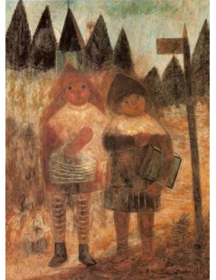 Tytuł: Powrót ze szkoły, Autor: Tadeusz Makowski
