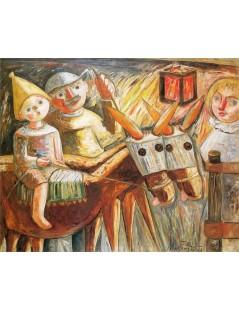Tytuł: Rodzina wieśniaków.jpg, Autor: Tadeusz Makowski