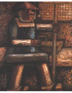Tytuł: Rybak, Autor: Tadeusz Makowski
