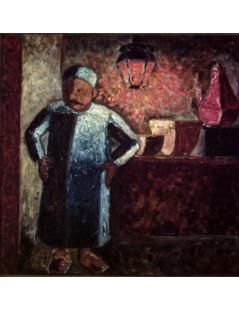 Tytuł: Sklepikarz, Autor: Tadeusz Makowski