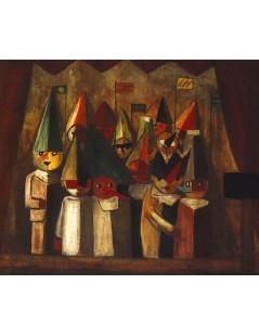 Tytuł: Teatr dziecięcy, Autor: Tadeusz Makowski