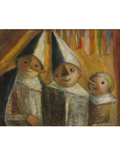 Tytuł: Troje dzieci w przebraniu, Autor: Tadeusz Makowski