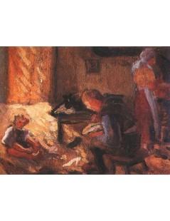 Tytuł: U szewca, Autor: Tadeusz Makowski