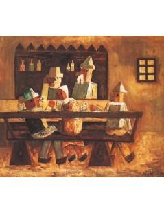 Tytuł: W oberży, Autor: Tadeusz Makowski