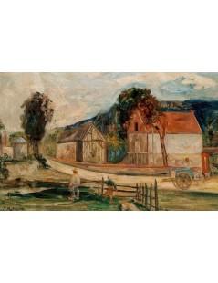 Tytuł: Wieś francuska, Autor: Tadeusz Makowski