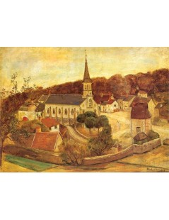 Tytuł: Wiejski kościół.jpg, Autor: Tadeusz Makowski