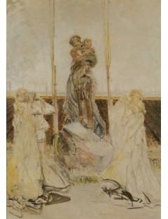 Tytuł: Studium do obrazu Matka Boska, Autor: Jacek Malczewski