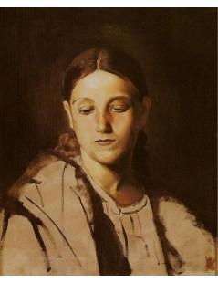 Tytuł: Studium do portretu Matka Boska, Autor: Jacek Malczewski