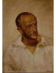 Tytuł: Studium do portretu Piotra Dobrzańskiego, Autor: Jacek Malczewski
