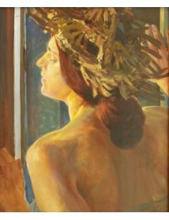 Tytuł: Studium kobiety przy oknie, Autor: Jacek Malczewski